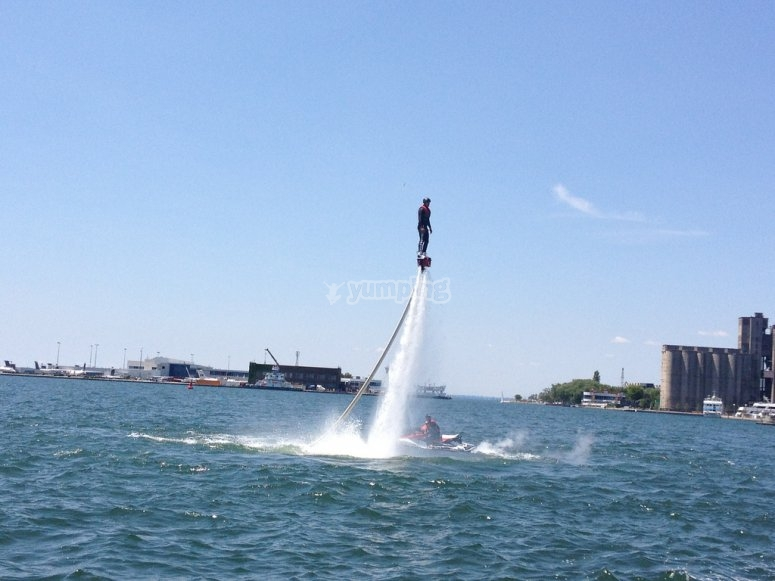 Practicing the new flyboard modality