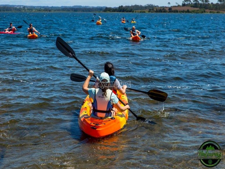 Kayaks on the reservoir
