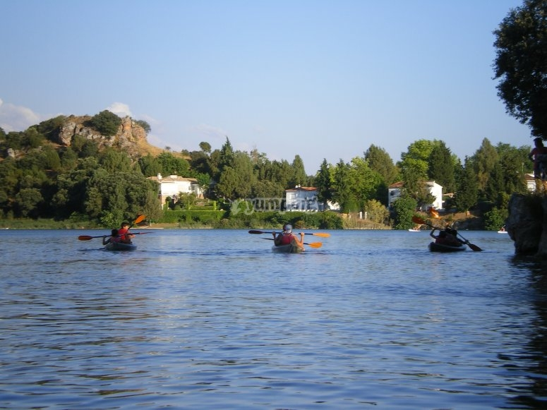 Remando en Lagunas de Ruidera