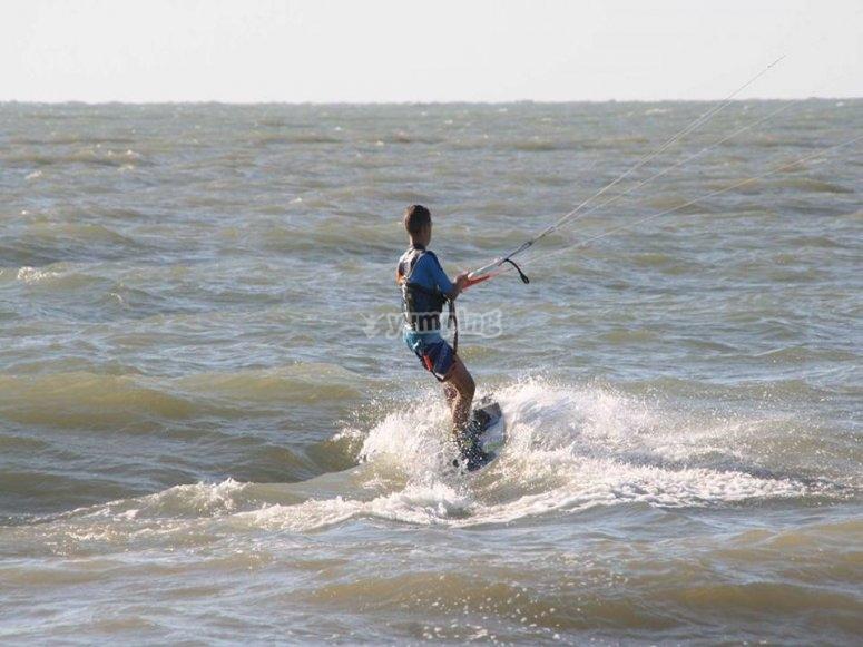 开始风筝冲浪