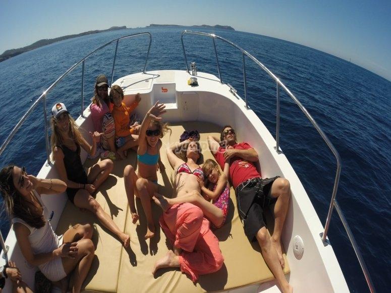 Disfrutando de Ibiza