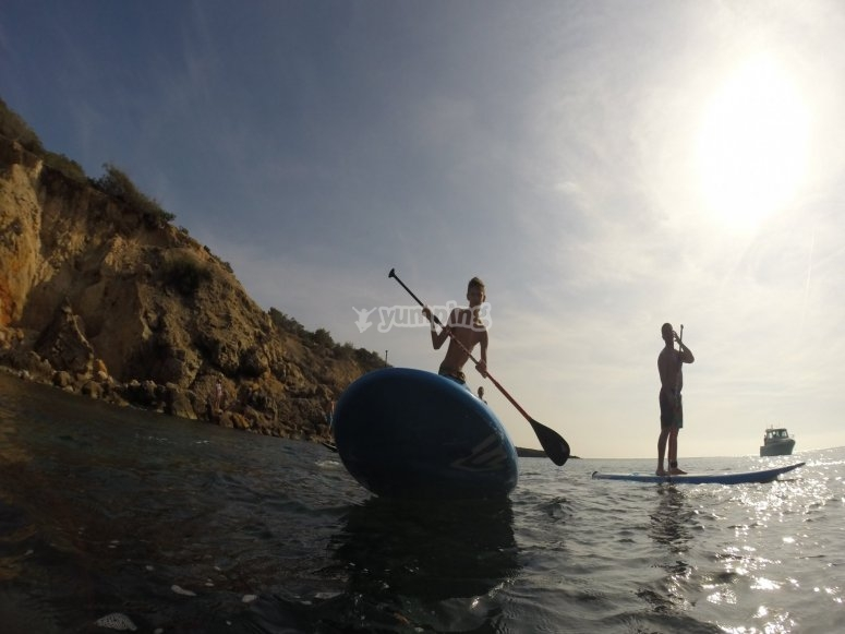 Excursion de paddle surf
