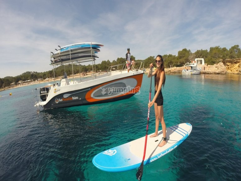Paddle surf y barco
