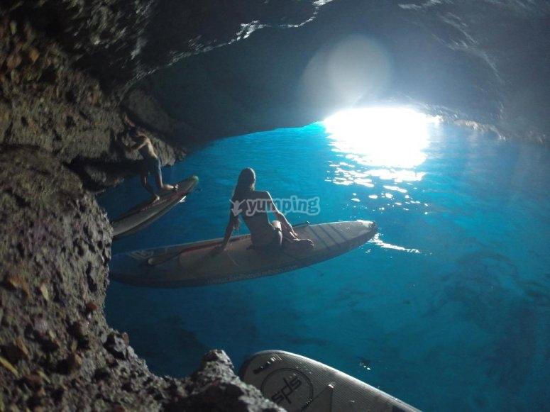 SuP en cueva