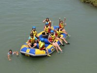 In group in the rafting raft