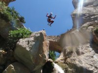 Jump whilst canyoning