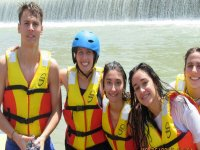 In the Segura to practice rafting