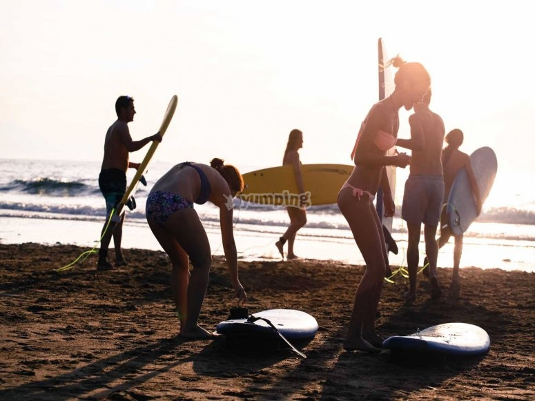 Preparadas para el surf
