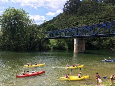 Descenso del Sella en canoa para niños