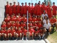 Los alumnos del campus de futbol