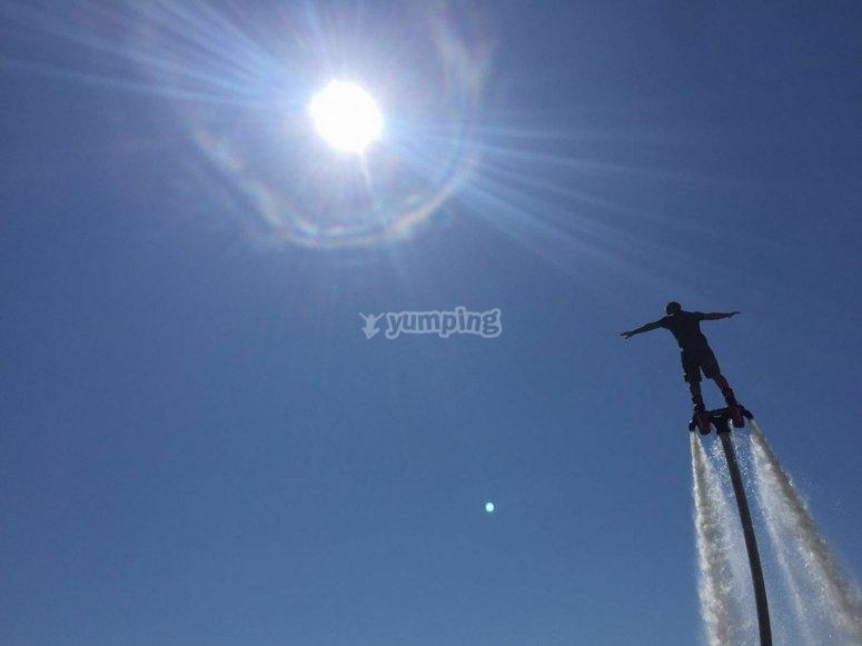 Flyboard en el Guadiana