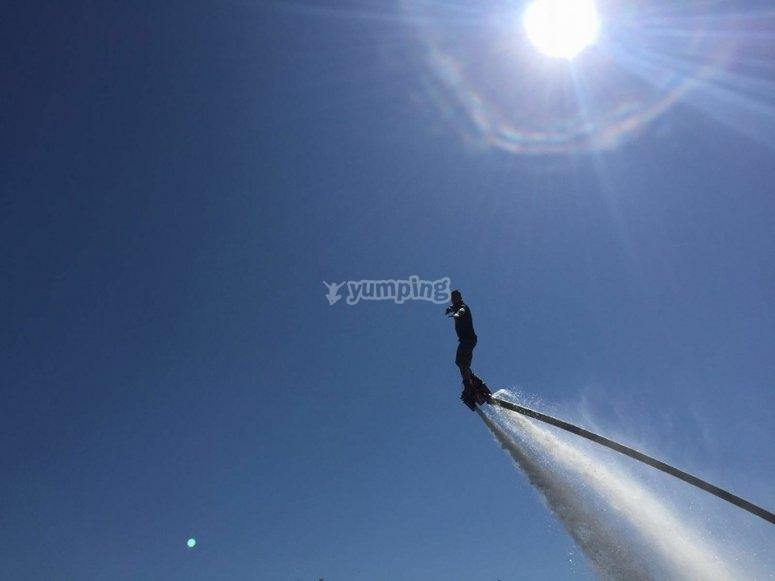 Volando con el flyboard