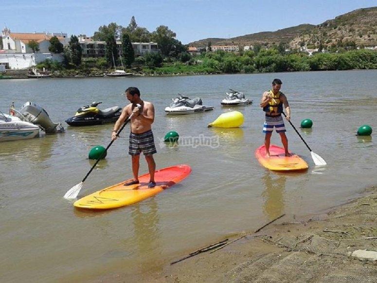 Paddle surf en el Guadiana