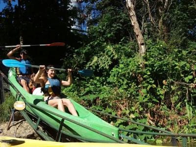 Descender el Sella en canoa individual con pícnic