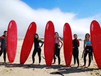 Chicas con las tablas de surf