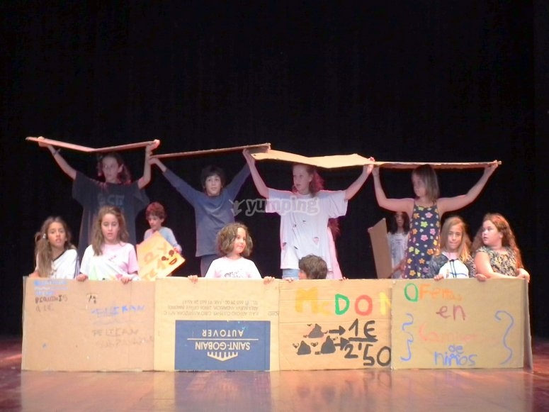Representacion en el escenario