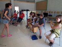 Tocando los instrumentos
