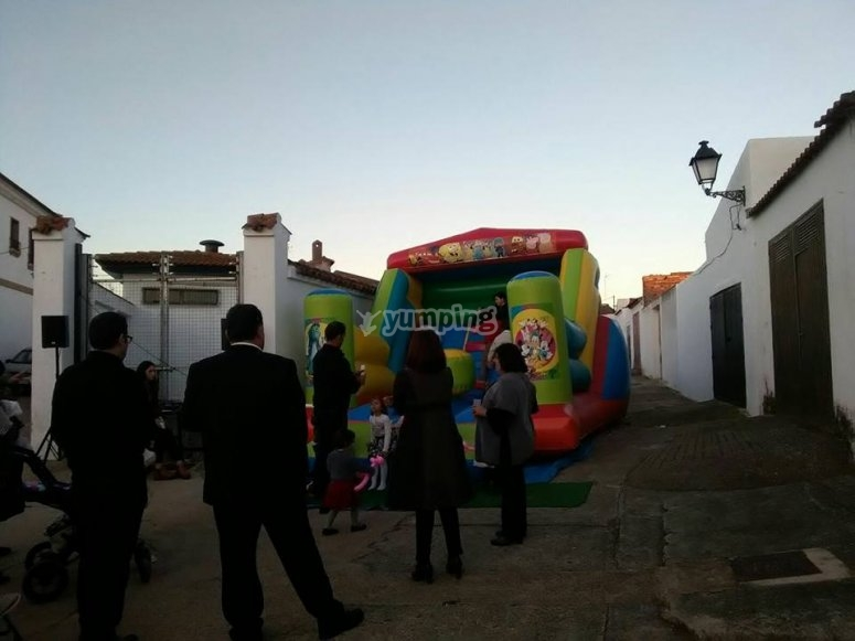 Party in the bouncy castle rental