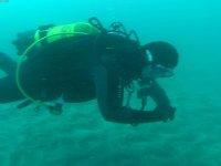 Diver practicing techniques