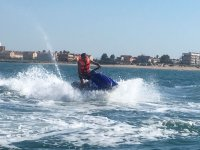 Have fun in the sea riding a jet ski