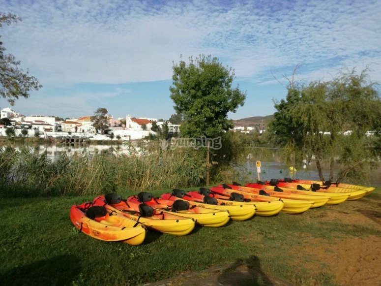 Kayaks preparados
