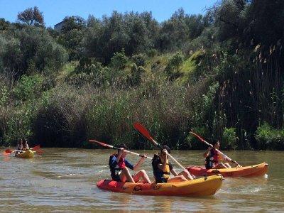 Alquiler de kayak monoplaza en el Guadiana 4 horas