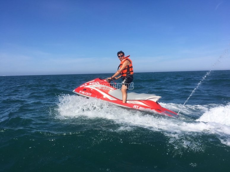 Drive a jet ski in Tarragona
