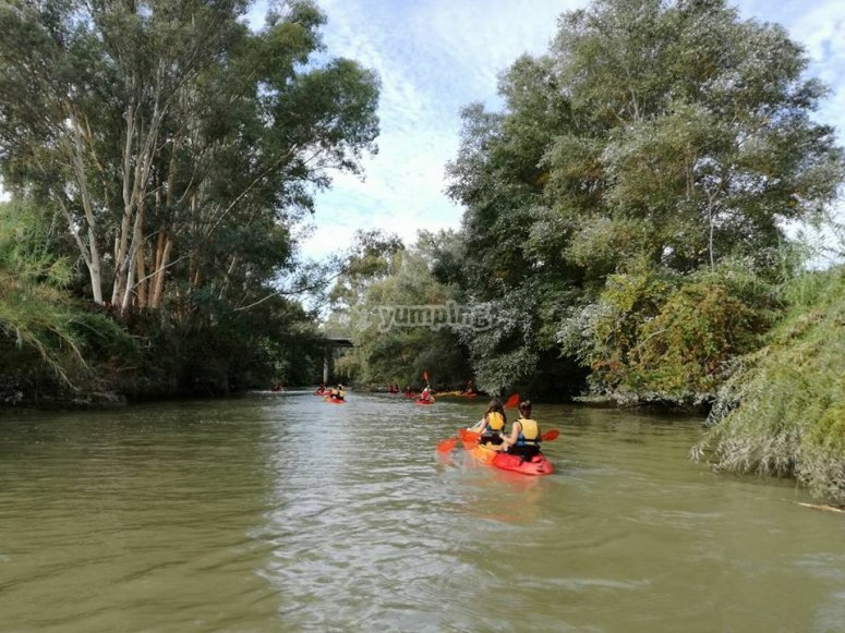 Kayak en el Guadiana
