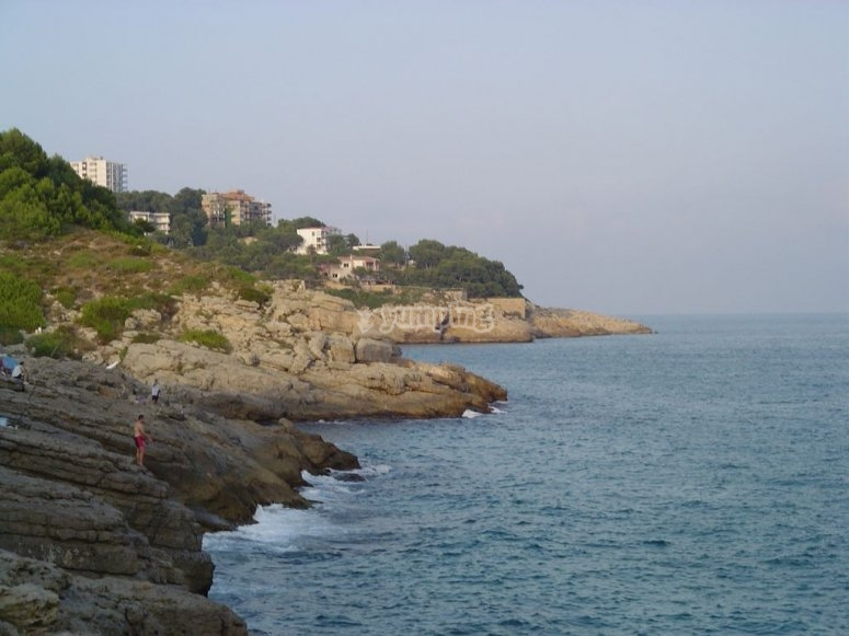 Cap Salou rock formations