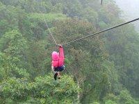 great zip line in nature