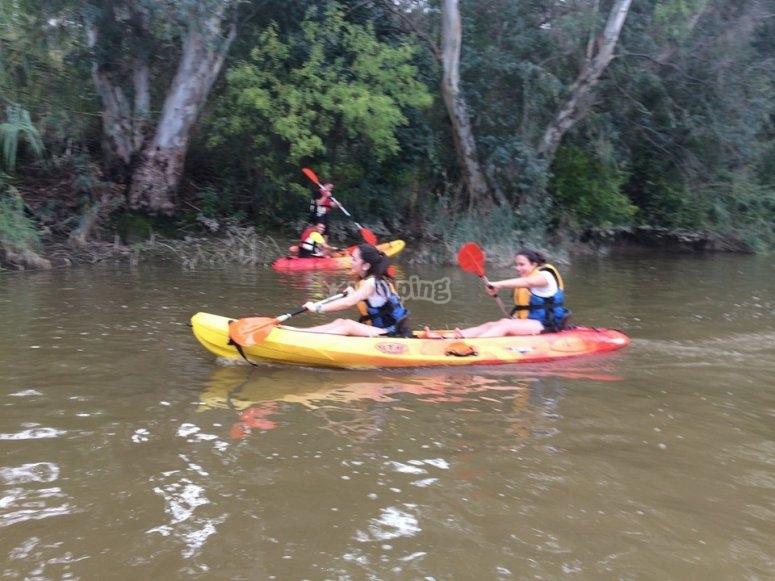 Navegando en el kayak