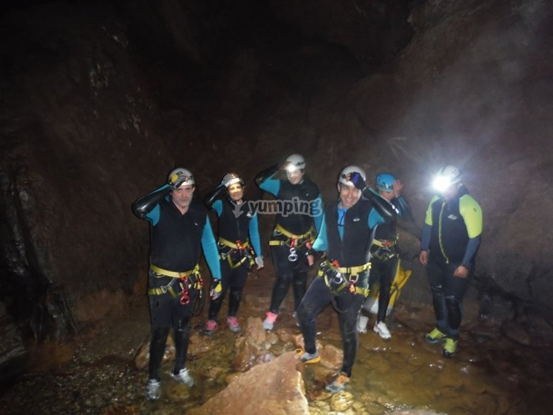 A group in the cave