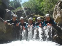 A group canyoning