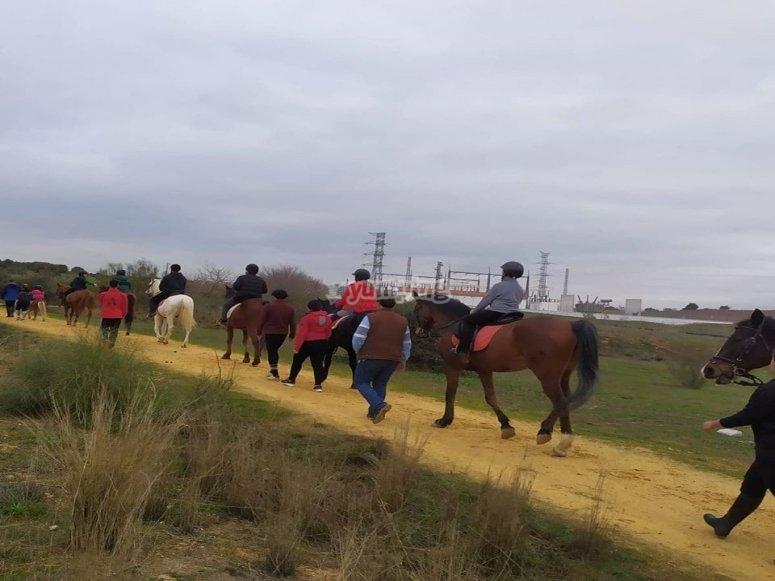 Paseo ameno a caballo