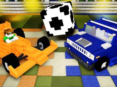 Campus urbano tecnológico Minecraft Rocket League