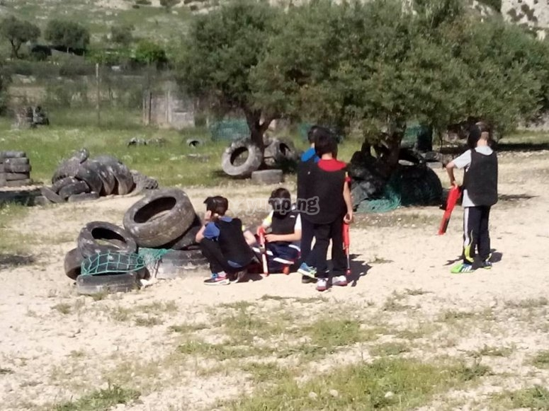 Paintball game for children