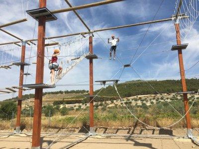 Circuito de aventuras niños en Arganda y merienda