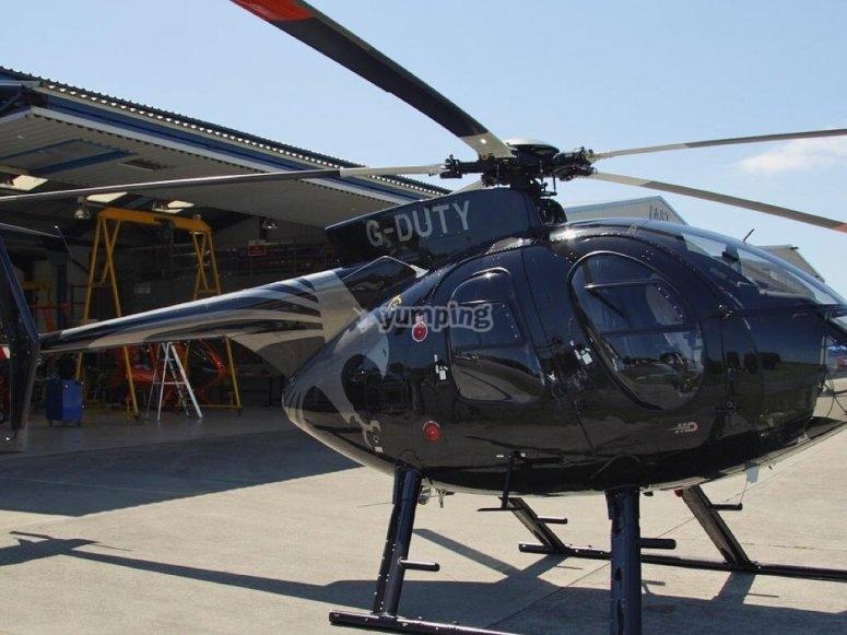 乘坐直升机
