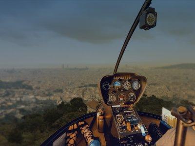 巴塞罗那悬崖直升机飞行30分钟