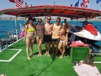En el catamaran en El Arenal