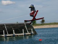 jumping with skis