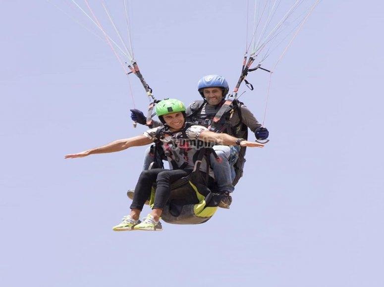 Paragliding flight in Guadalajara