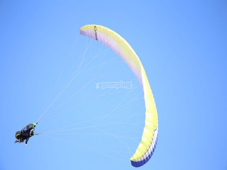 Paraglider during the flight