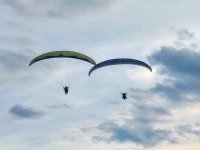 Paragliders flying at the same time