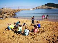 Juegos en la playa de Plentzia-Gorliz