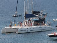 Catamaran on the sea