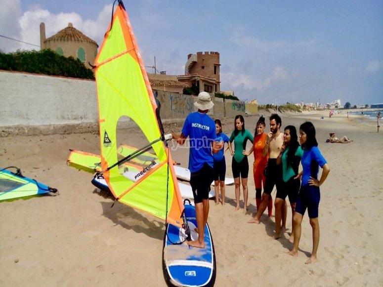Spiegare il windsurf