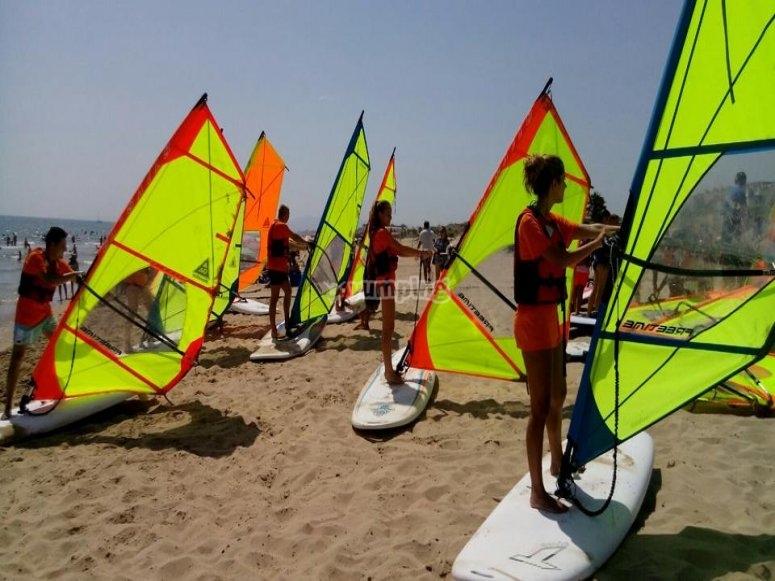 Gruppo di windsurf