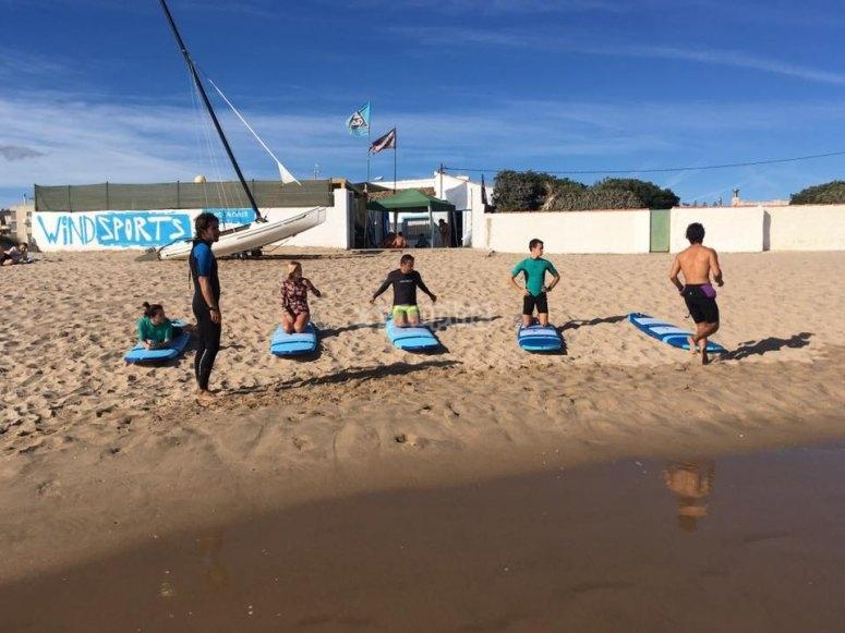 Posizioni di surf
