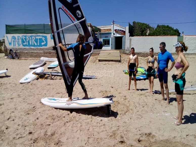 Windsurfing session